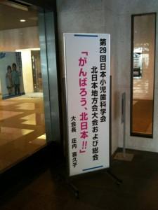 第29回小児歯科学会北日本地方会