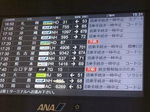 大韓航空機炎上の影響で欠航が続出